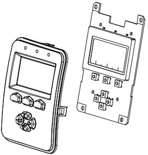 KIT DISPLAY AND BEZEL FOR
