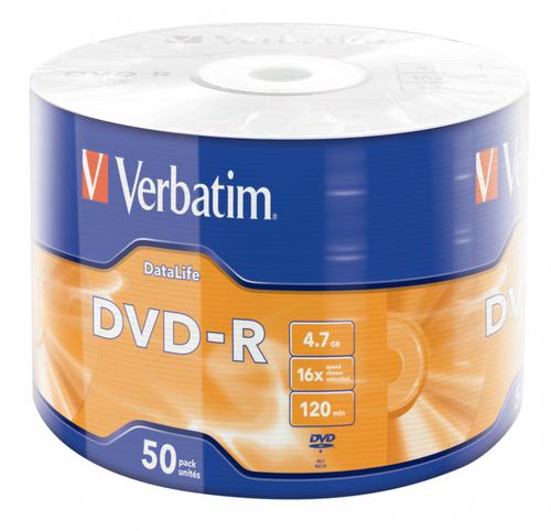 DVD-R 4.7 GB 16X WRAPPED 50X