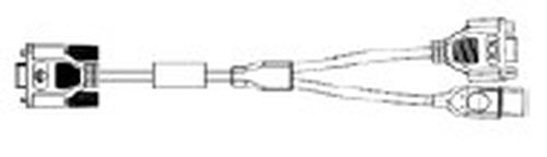 CBL HIGH DENSITY DB15 / USB REC
