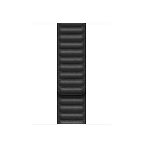 40MM BLACK LEATHER LINK - LARGE