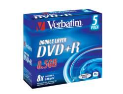 DVD+R DL 8X 5PZ JEWEL CASE
